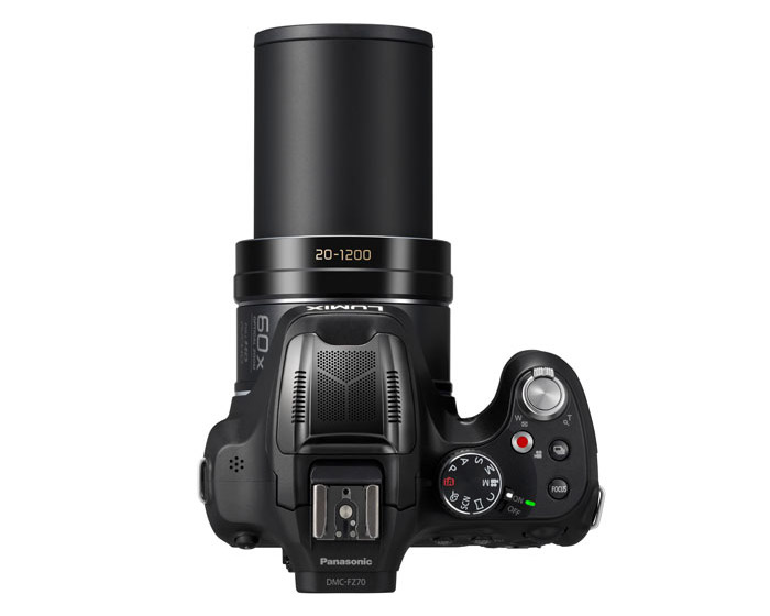 Panasonic Lumix FZ70 60x Superzoom Camera - Top View
