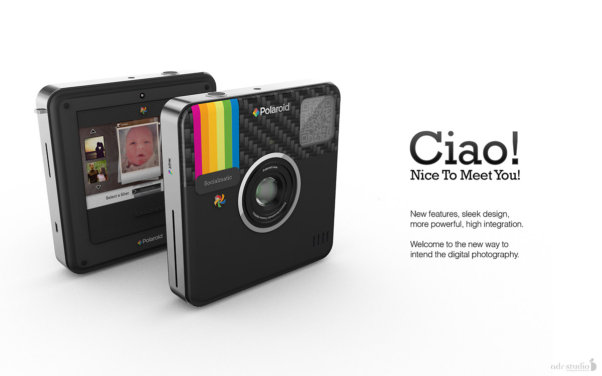 Socialmatic Camera - Front & Back Views