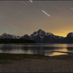 """Star Trails Over the Tetons"" by CaraRose"