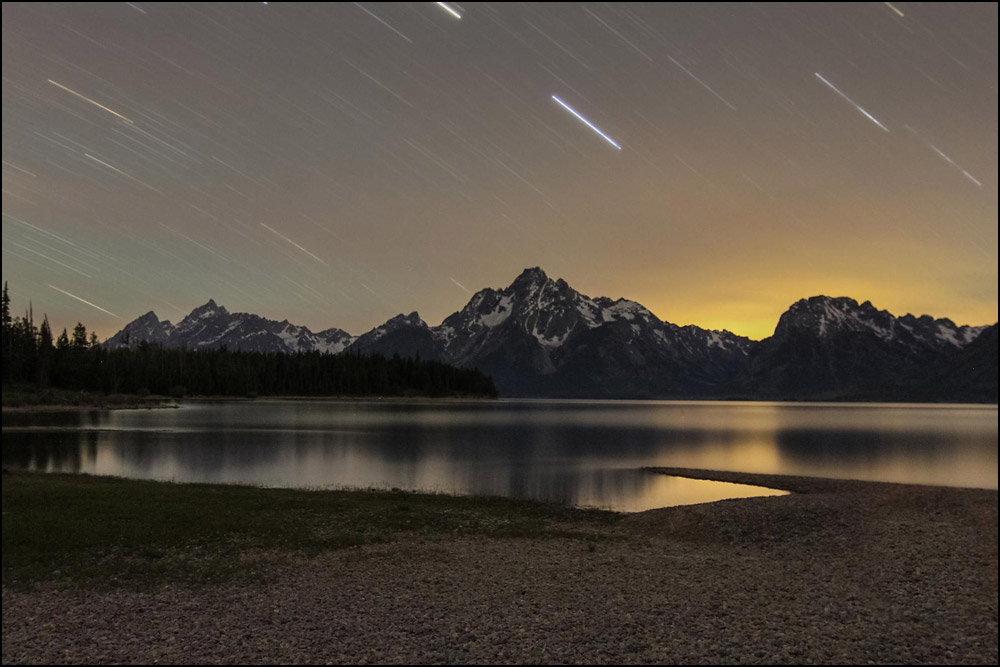 """""""Star Trails Over the Tetons"""" by  CaraRose"""