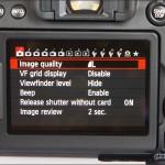 Canon EOS 70D - Main Menu