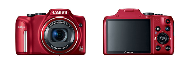 Canon PowerShot SX170 IS Point-and-Shoot - Front & Back