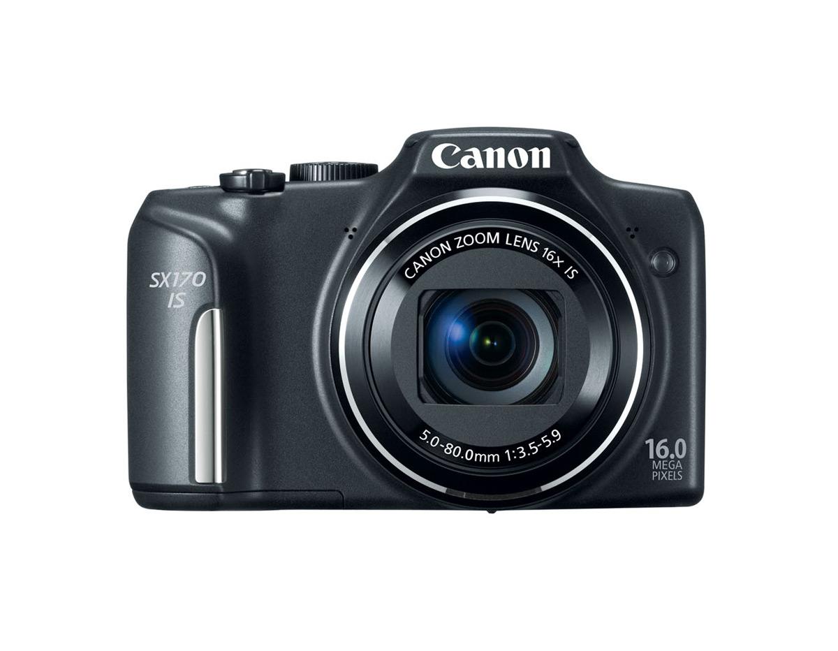Canon PowerShot SX170 IS - Black - Front