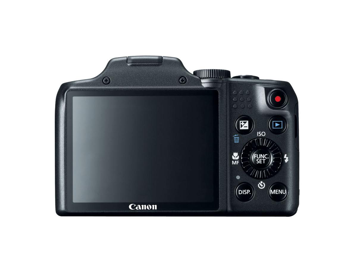 Canon PowerShot SX170 IS - Black - Rear