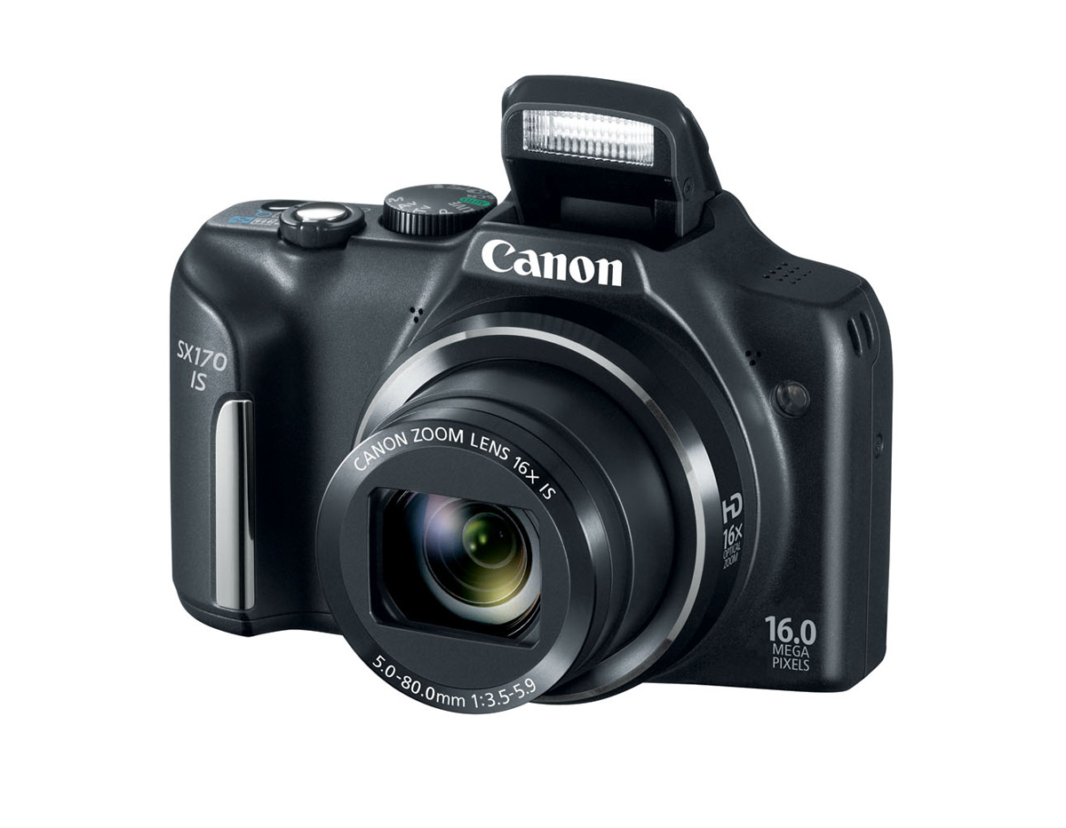 Canon PowerShot SX170 IS - Black - Pop-Up Flash