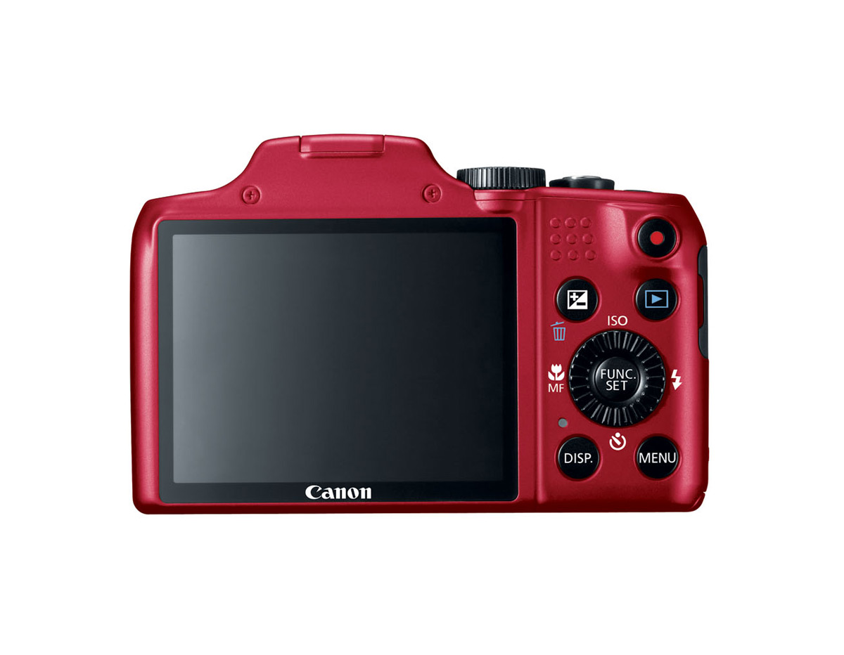 Canon PowerShot SX170 IS - Red - Rear