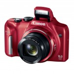 Canon PowerShot SX170 IS - Red - Pop-Up Flash