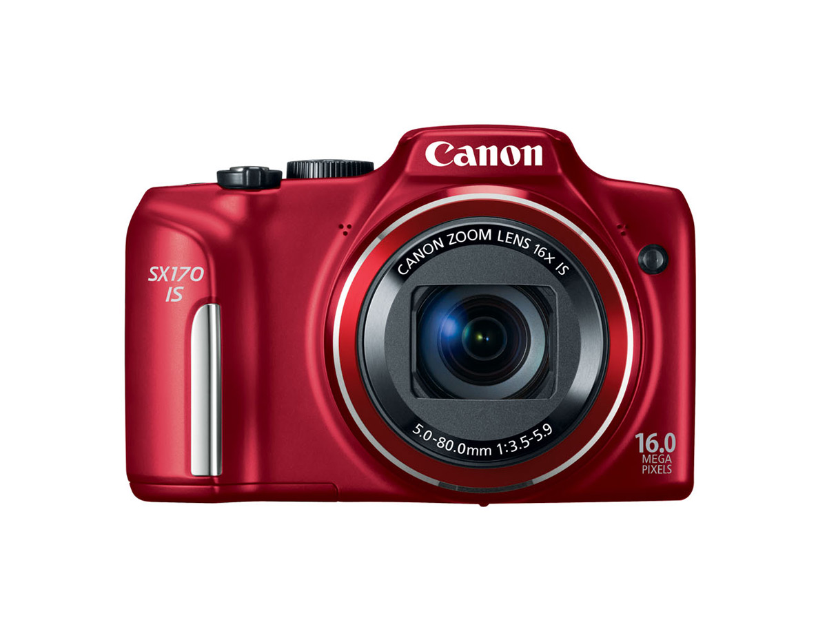 Canon PowerShot SX170 IS - Red - Front