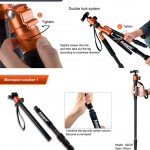 The Fotopro C5i Tripod Converts To A Monopod