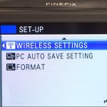 Fujfilm FinePix F900 EXR - Built-in Wi-Fi Menu