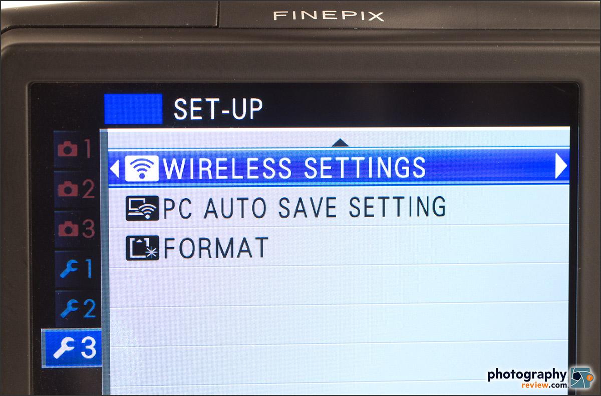 Fujfilm FinePix F900 EXR - Built-in Wi-Fi Menu