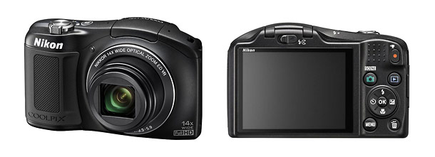 Nikon Coolpix L620 Pocket Camera - Front & Back