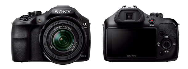 Sony Alpha A3000 Interchangeable Lens Camera - Front & Back