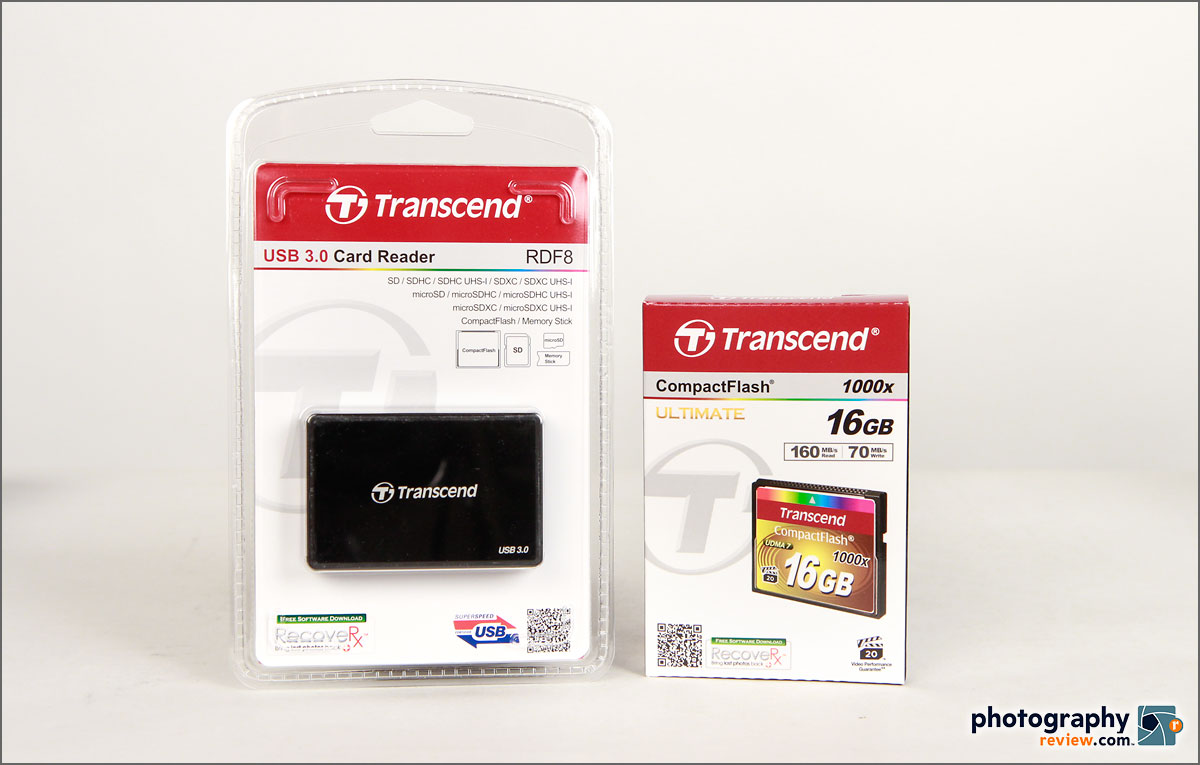 Transcend USB 3.0 Card Reader & 1000x CompactFlash Card