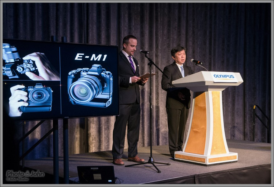 President of Olympus Making the Official OM-D E-M1 Introduction