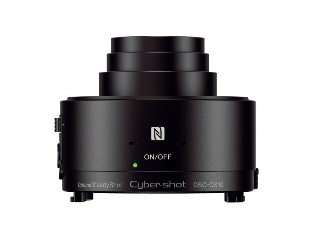 "Sony Cybershot QX10 ""Lens-Style"" Camera - Top, Black"