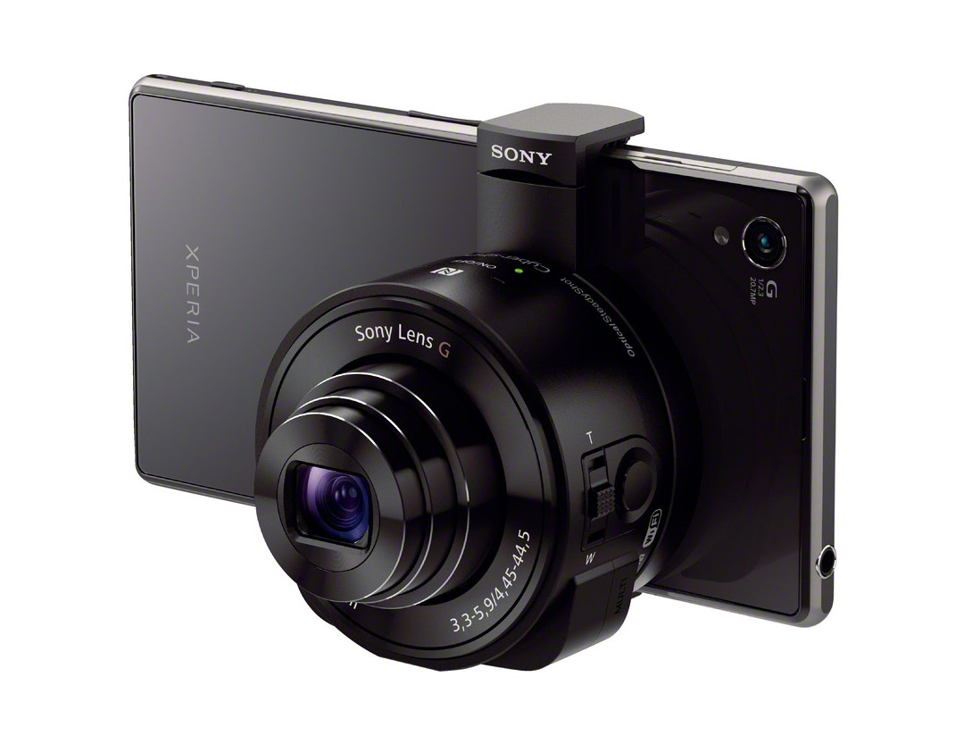 "Sony Cybershot QX10 ""Lens-Style"" Camera - Mounted On Phone"