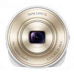 """Sony Cybershot QX10 """"Lens-Style"""" Camera - White - Front"""