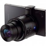 Sony Cybershot QX100 With Zeiss Lens - Mounted On Phone