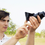 """New Sony Cybershot QX100 """"Lens-Style"""" Camera With Smart Phone"""