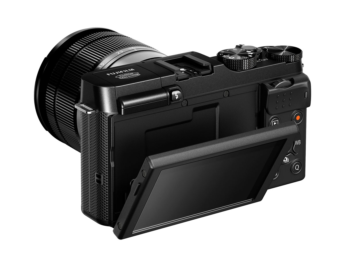 Fujifilm X-A1 - Rear View With Tilting 3-Inch LCD Display
