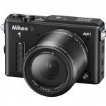 Nikon 1 AW1 Waterproof Interchangeable Lens Camera - Left - Black