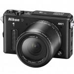 Nikon 1 AW1 Waterproof Interchangeable Lens Camera - Left - Black