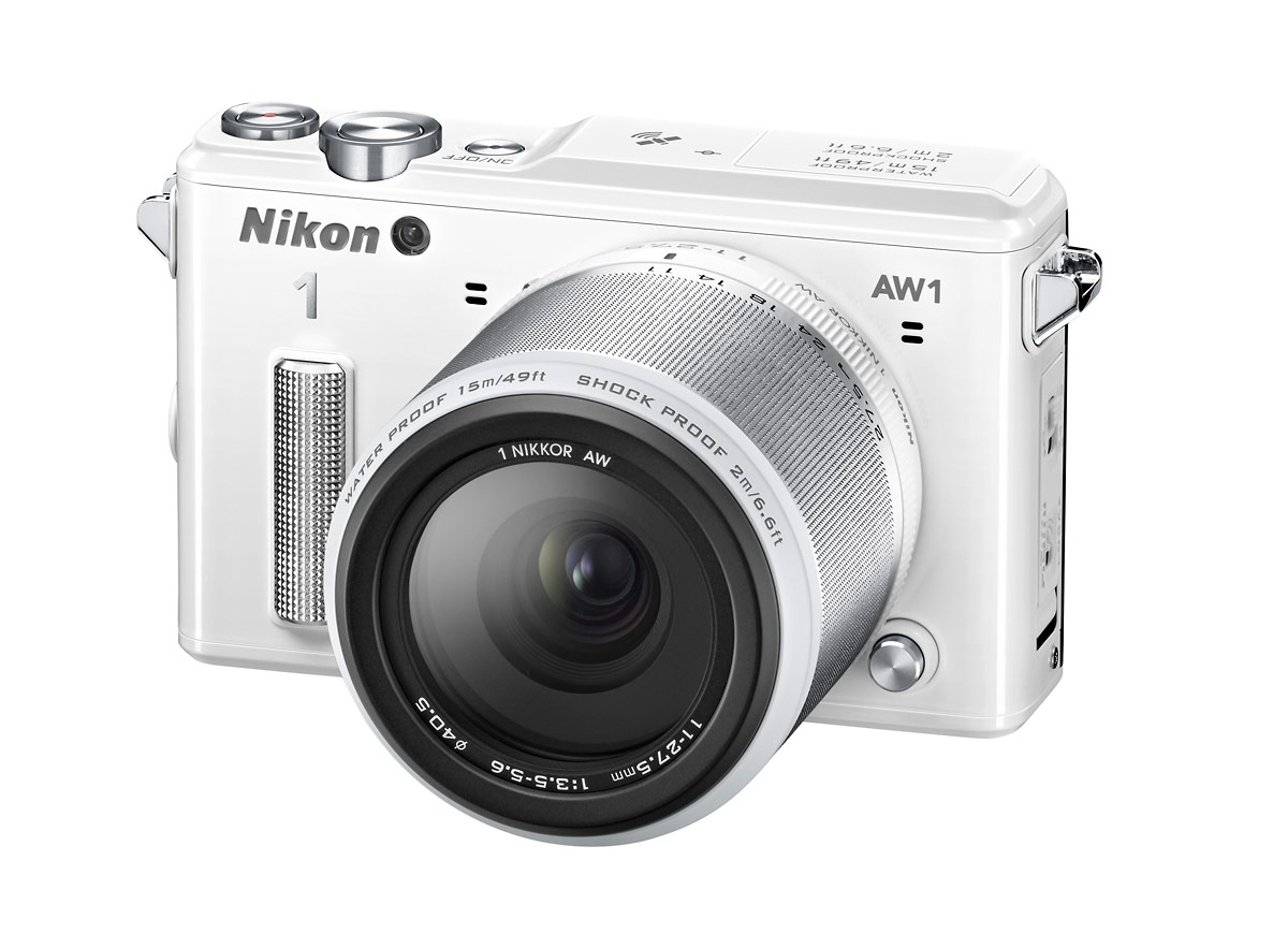 Nikon 1 AW1 Waterproof Interchangeable Lens Camera - Left - White