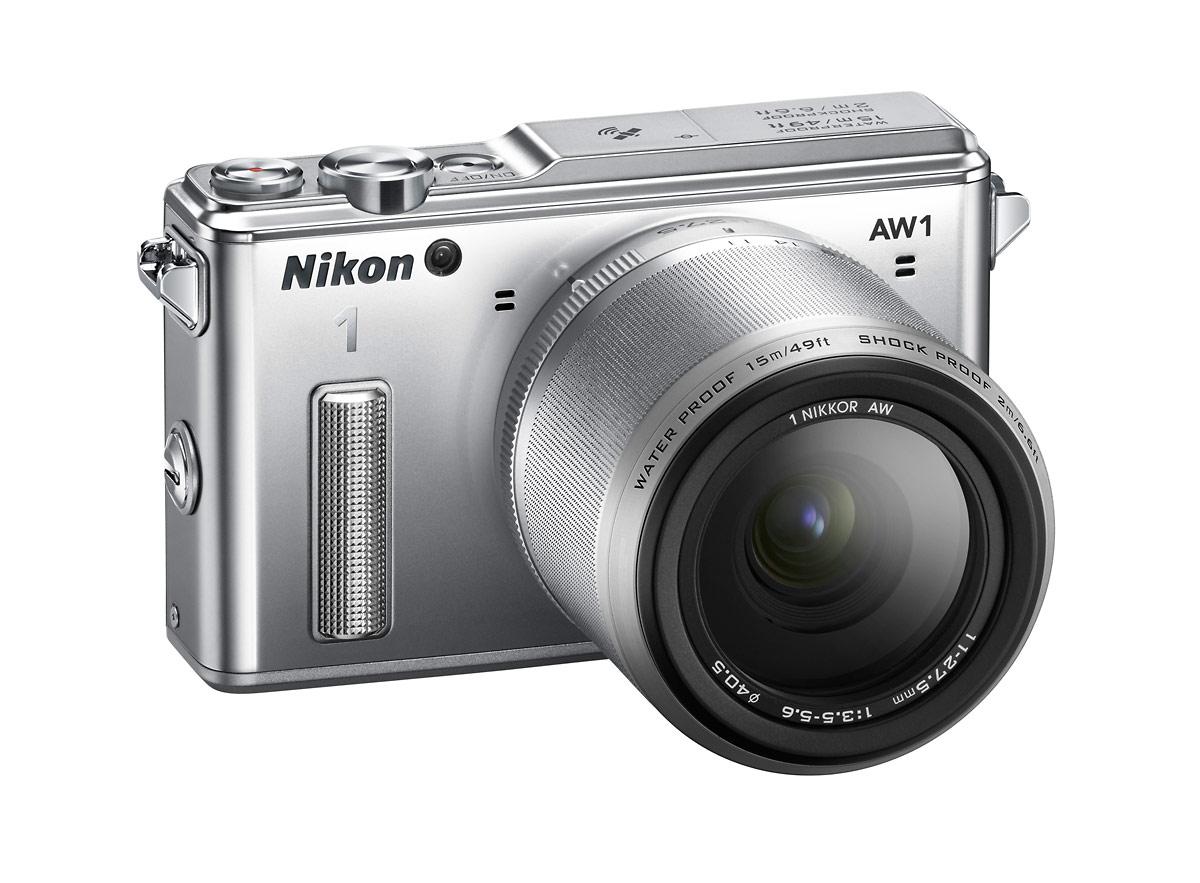 Nikon 1 AW1 Waterproof Mirrorless Camera - Silver