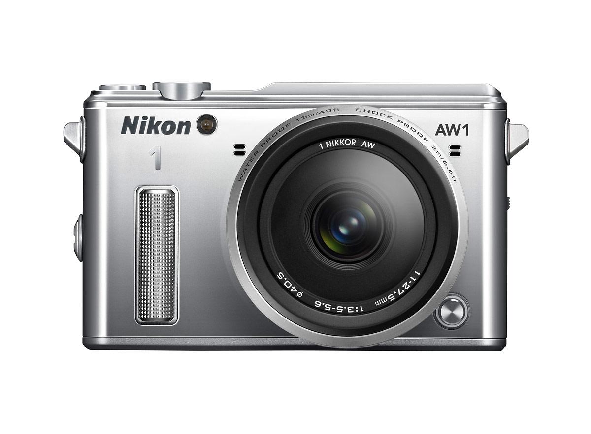 Nikon 1 AW1 Waterproof Interchangeable Lens Camera - Silver