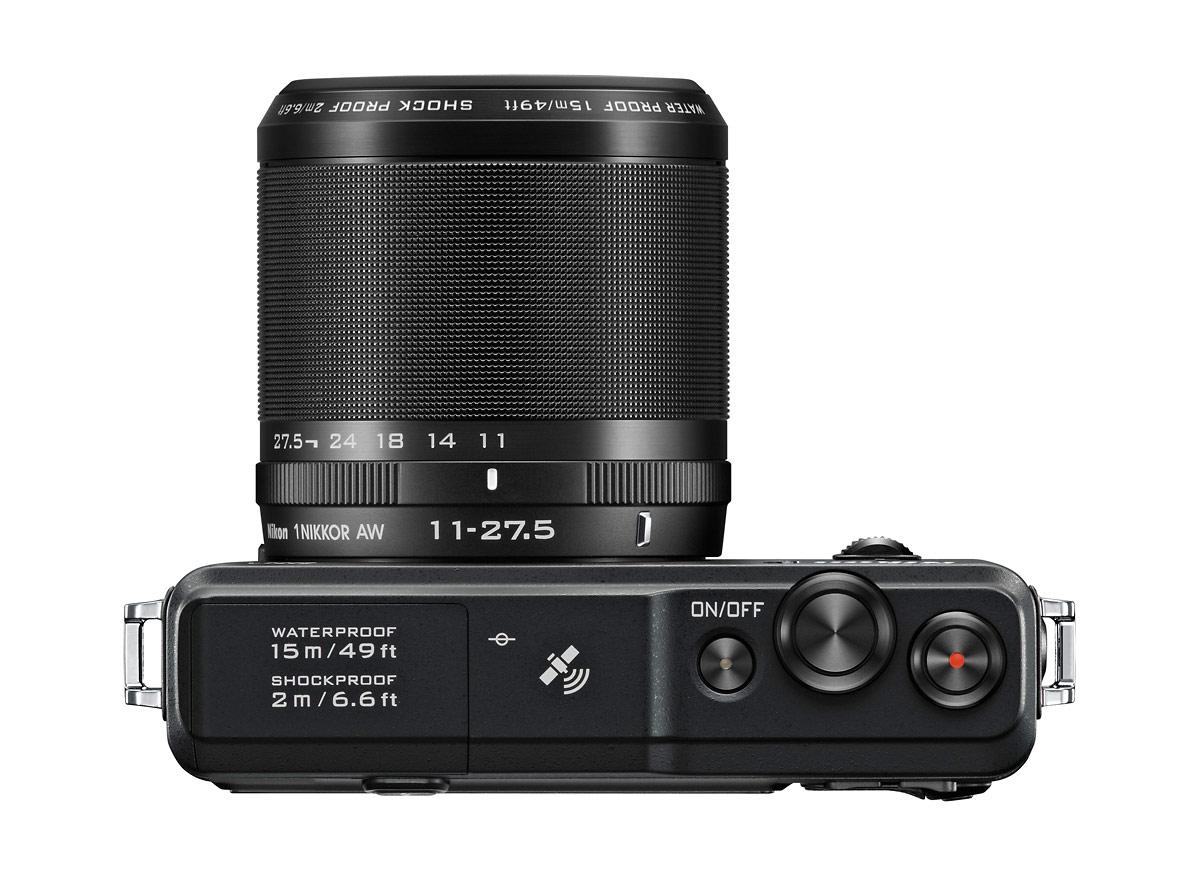 Nikon 1 AW1 Waterproof Mirrorless Camera - Top - Black