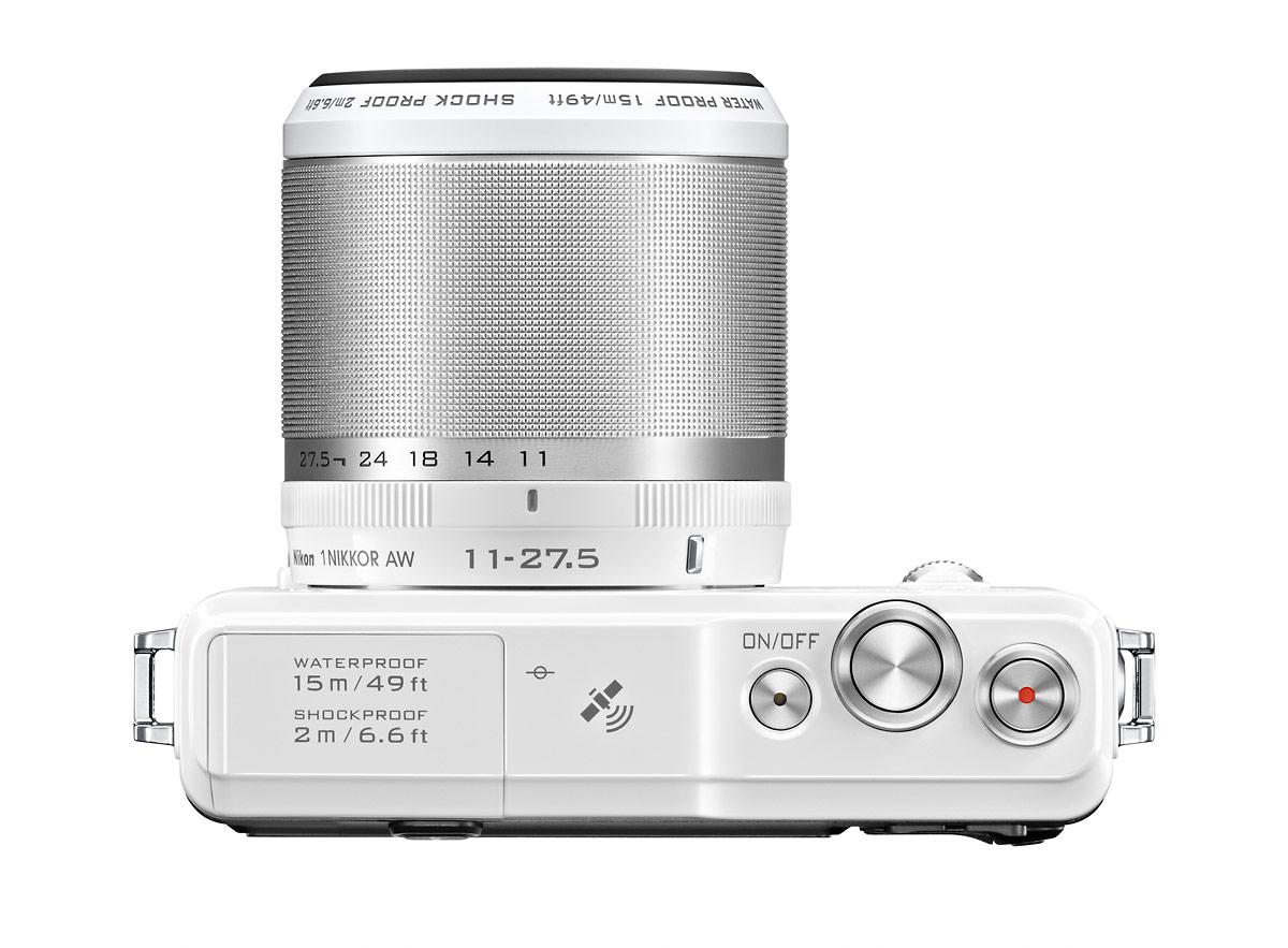 Nikon 1 AW1 Rugged Mirrorless Camera - Top - White