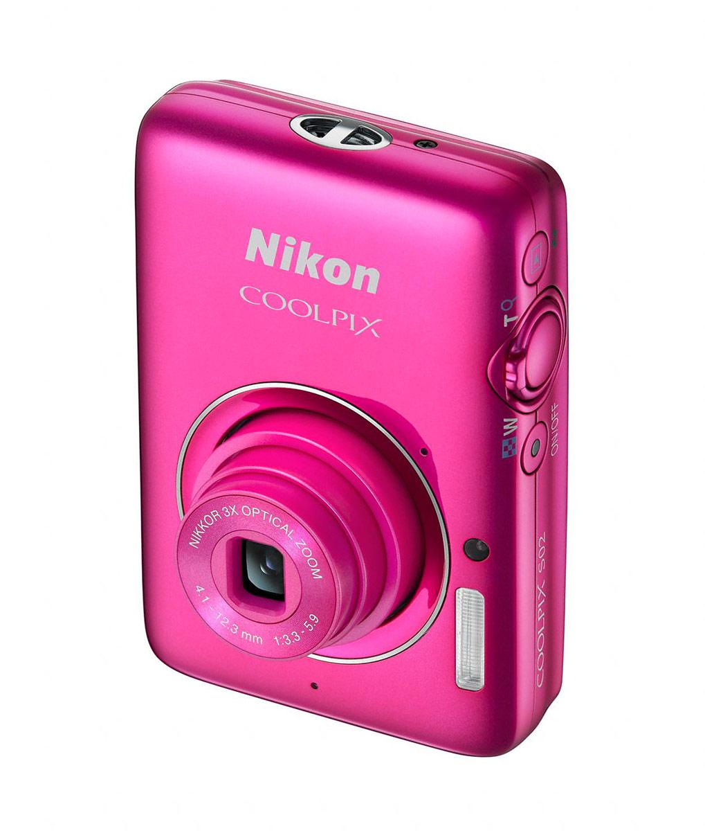 Nikon Coolpix S02 - Pink - Angle
