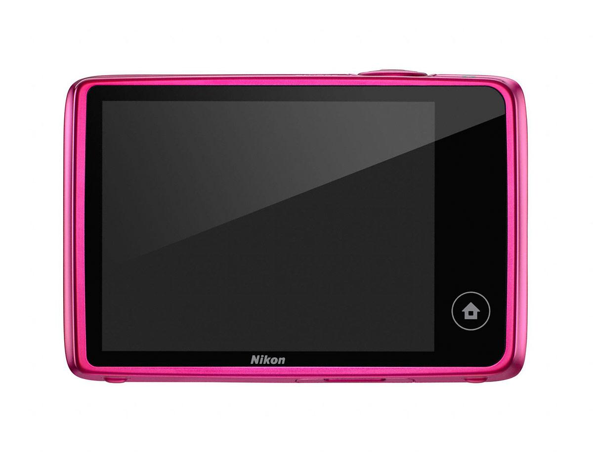 Nikon Coolpix S02 - Rear Touchscreen LCD Display - Pink