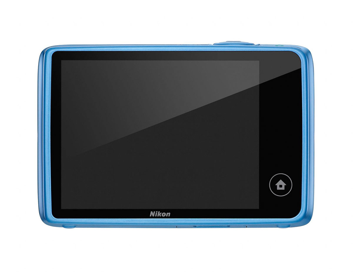 Nikon Coolpix S02 - Rear Touchscreen LCD - Blue