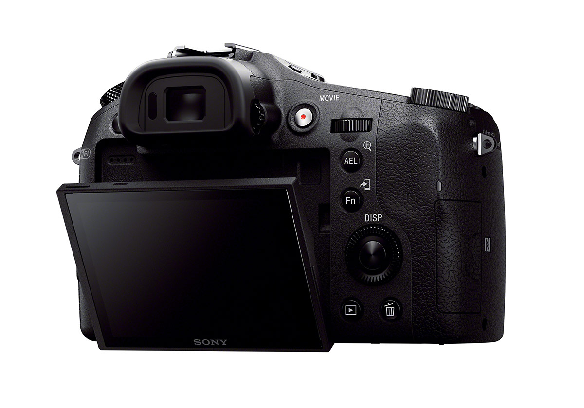 Sony Cybershot RX10 - Rear View With Tilting LCD Display