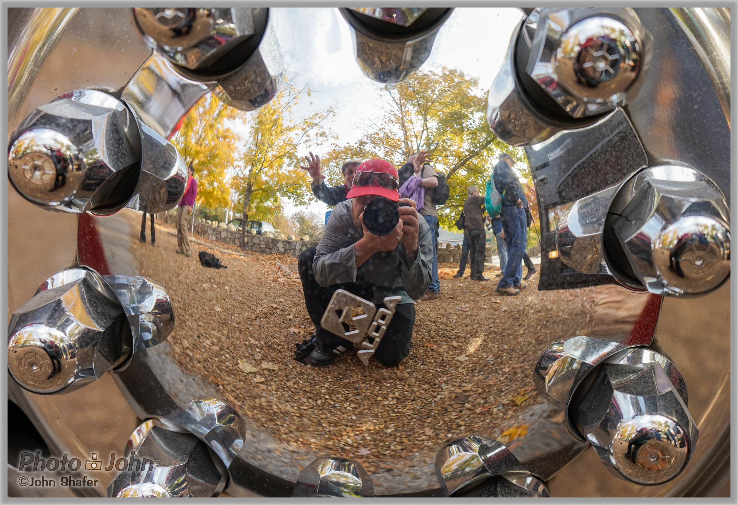 Sony Alpha A7 - Hubcap Self-Portrait