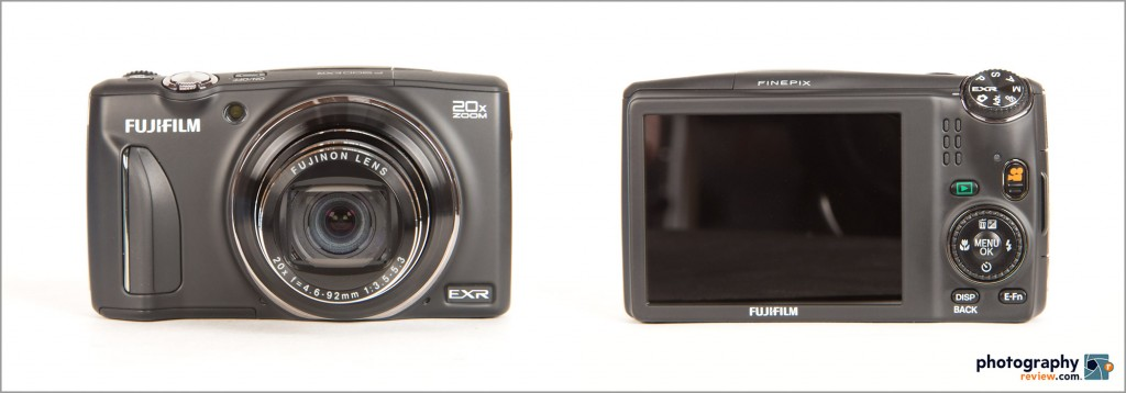 Fujifilm FinePix F900EXR Pocket Superzoom Camera - Front & Back
