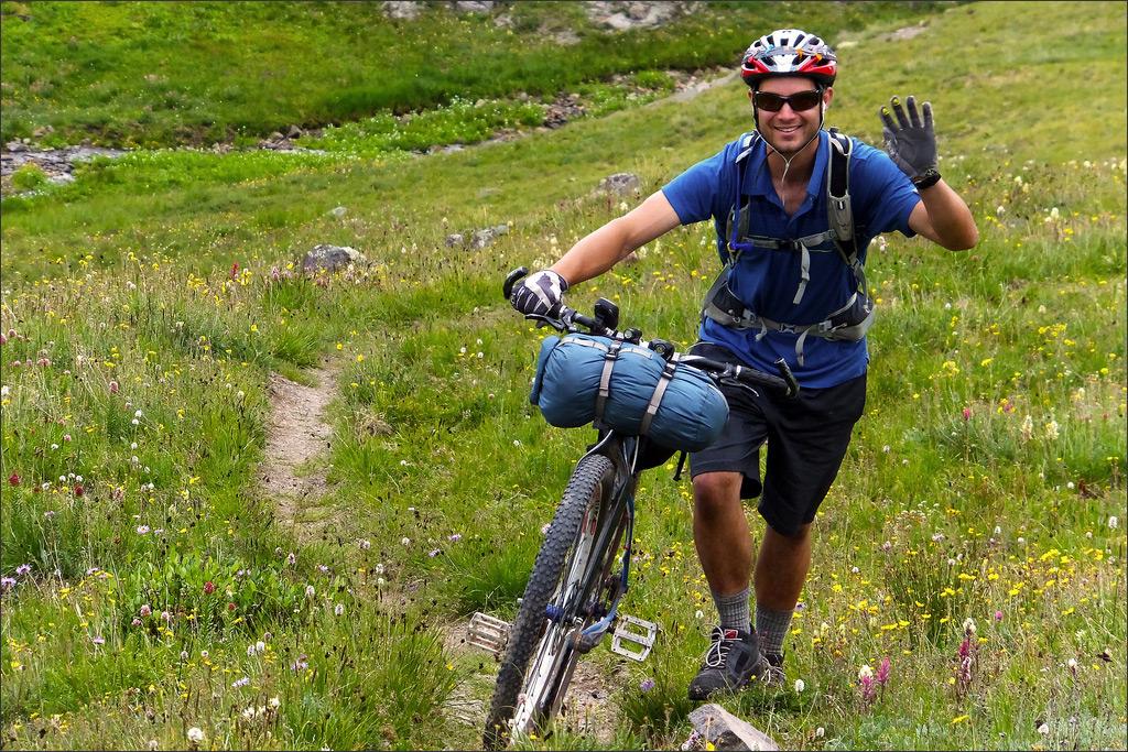 Fujifilm FinePix F900EXR - Friendly Rider On The Colorado Trail