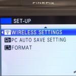 Fujifilm FinePix F900EXR - Wi-Fi Menu