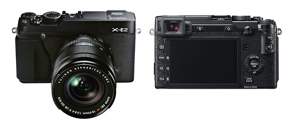 Fujifilm X-E2 Mirrorless Camera - Front & Back
