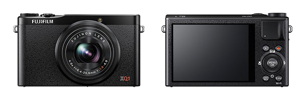 Fujifilm XQ1 Premium Pocket Camera - Front & Back