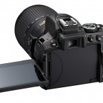 Nikon D5300 - Rear With Tilt-Swivel LCD Display