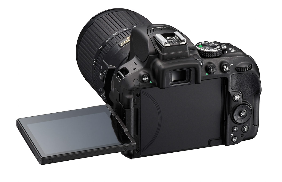 Nikon D5300 - Rear With Tilt-Swivel LCD Display