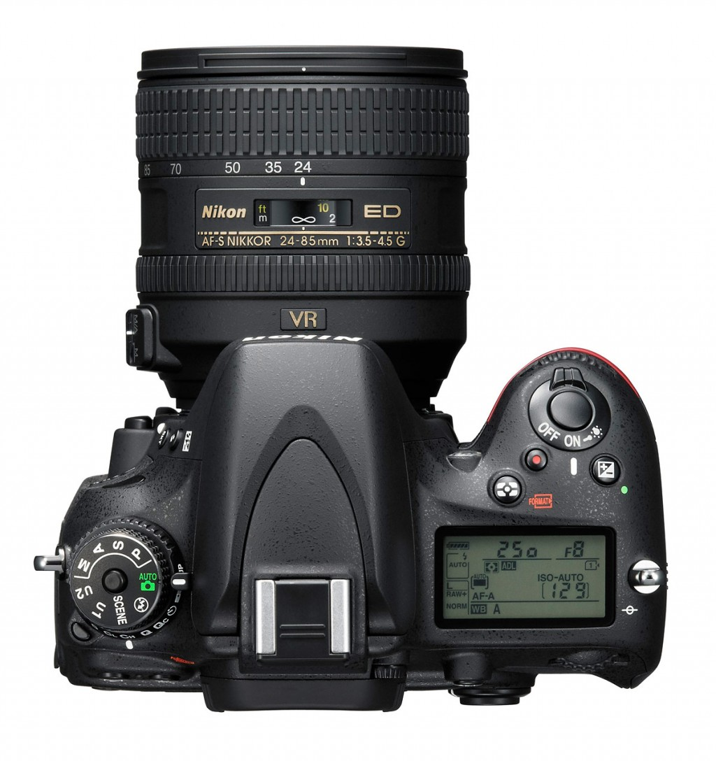 Nikon D610 DSLR - Top View With 24-85mm Lens