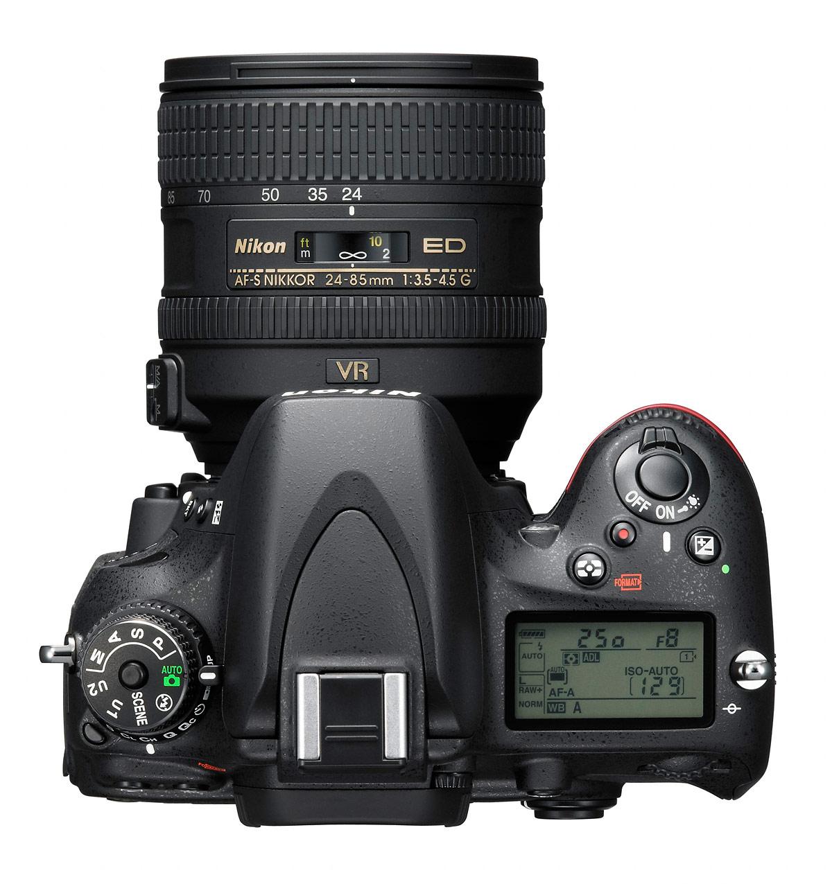 Nikon D610 DSLR - Top View With 24-85mm Lens