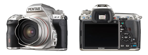 Pentax K-3 Silver Edition Digital SLR - Front & Back