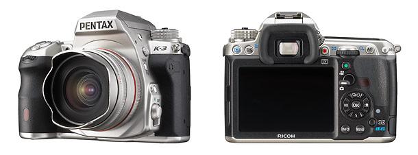 Pentax K-3 Silver Edition Digital SLR - Front & Back