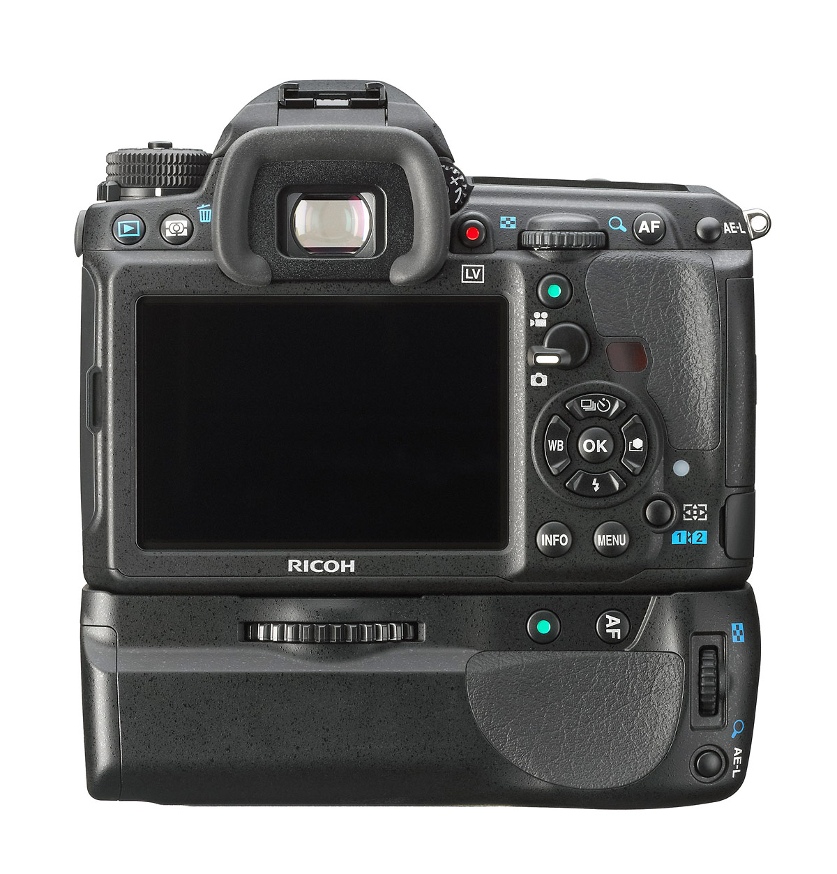 Pentax K-3 DSLR - Rear View With Battery Grip