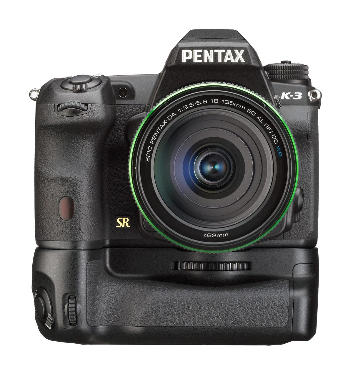 Pentax K-3 DSLR With Battery Grip